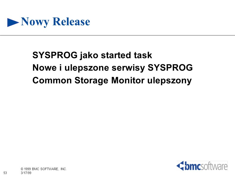 Nowy Release SYSPROG jako started task