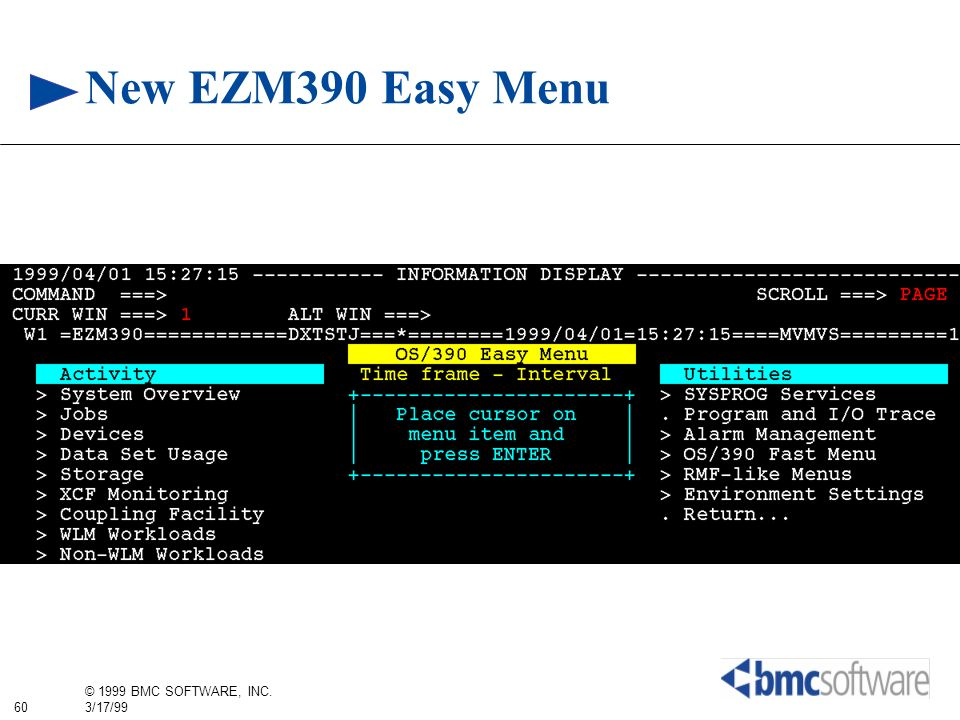 New EZM390 Easy Menu