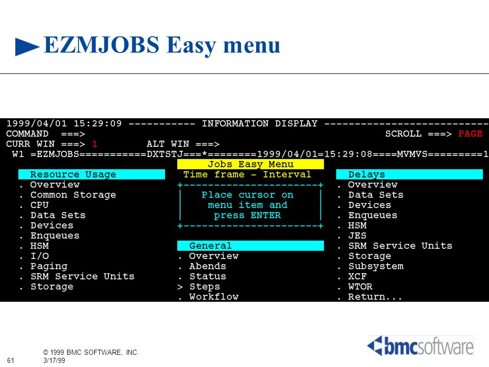 EZMJOBS Easy menu