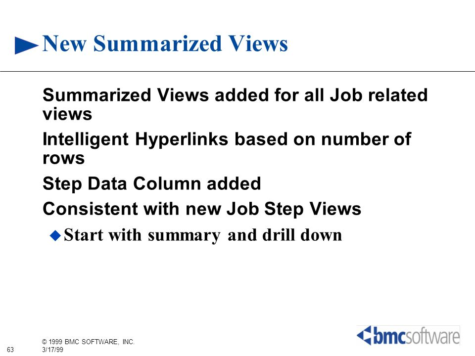 New Summarized Views Summarized Views added for all Job related views