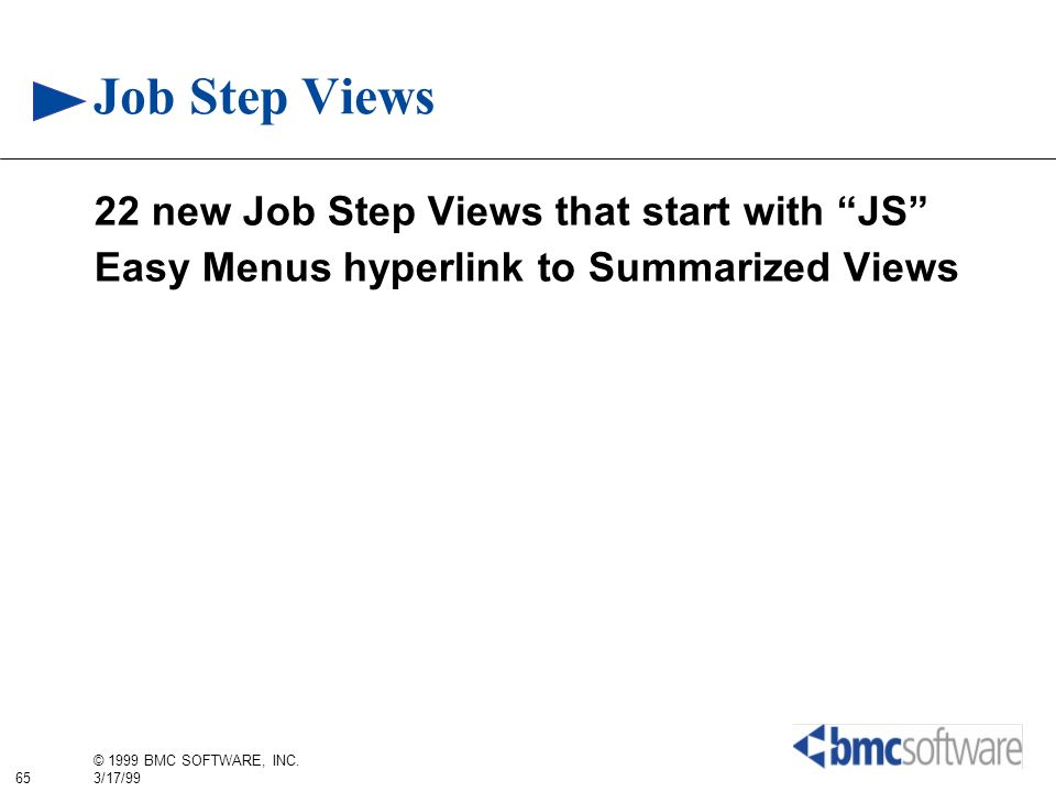 Job Step Views 22 new Job Step Views that start with JS