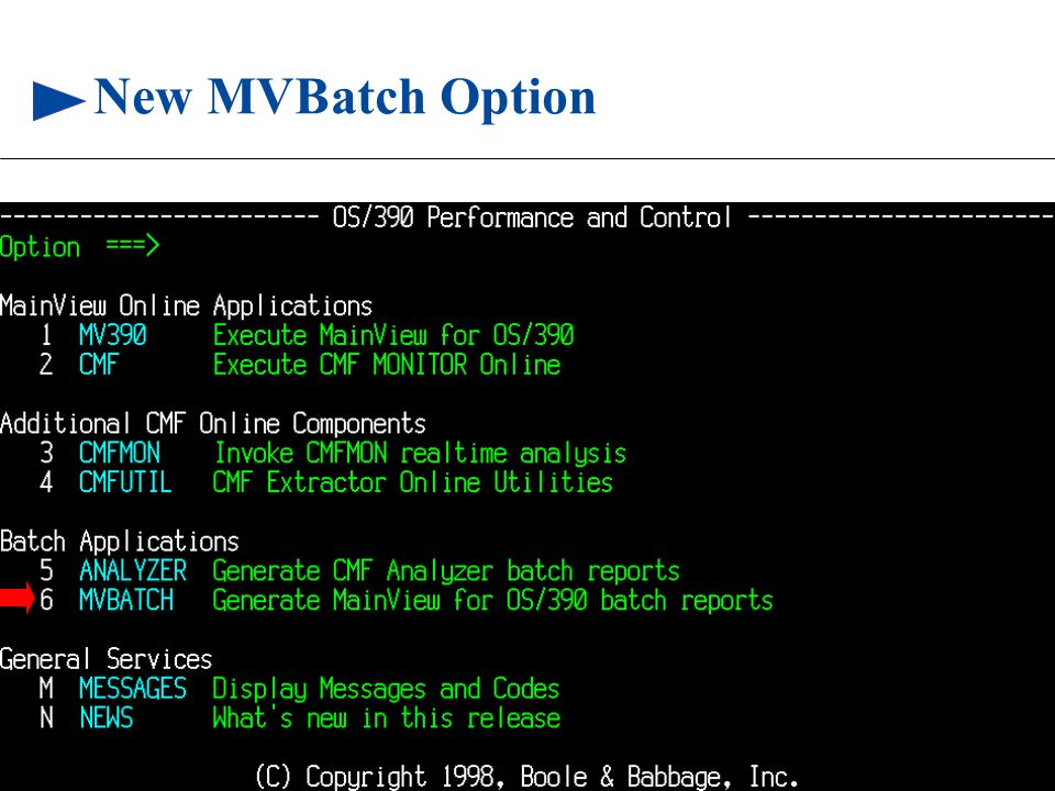 New MVBatch Option