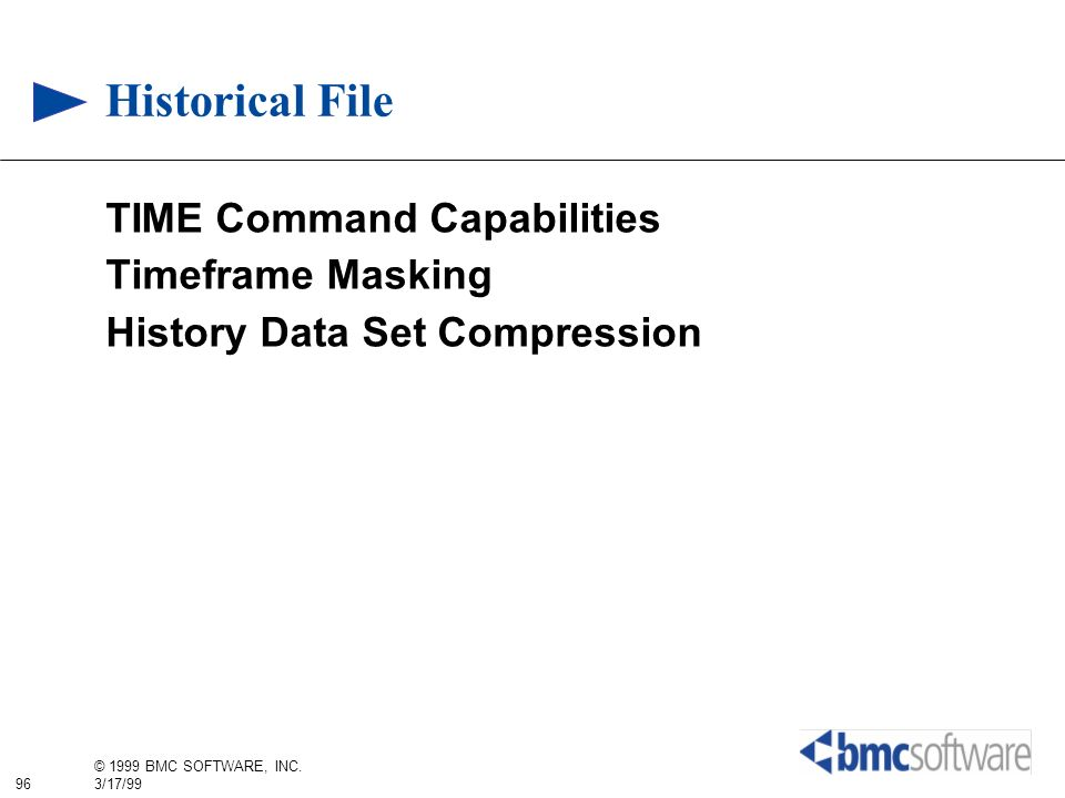 Historical File TIME Command Capabilities Timeframe Masking