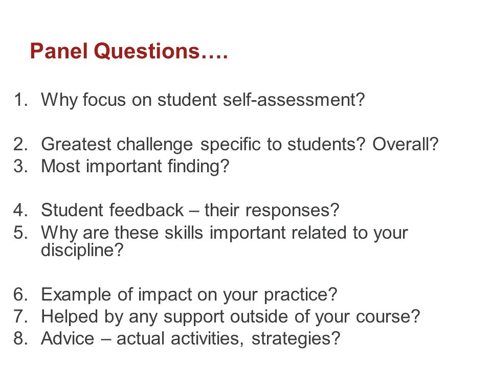 Student Engagement through Self-Assessment: Research-based
