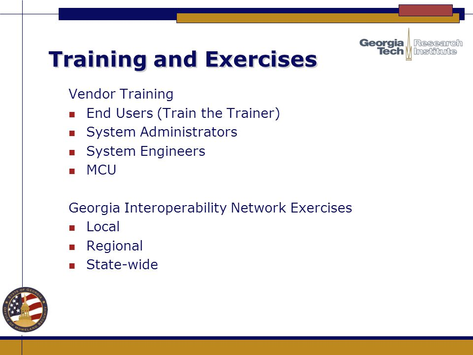 Training and Exercises