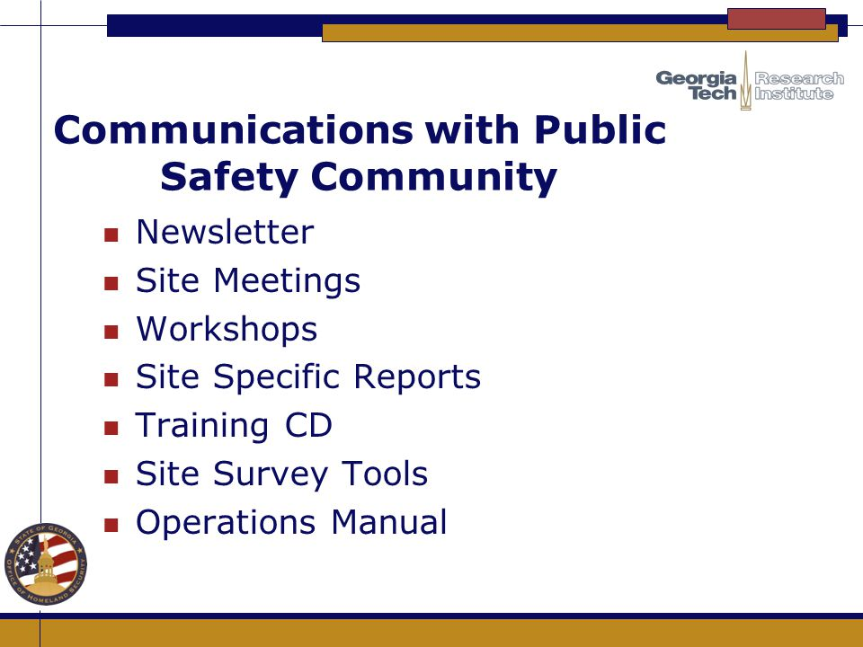 Communications with Public Safety Community