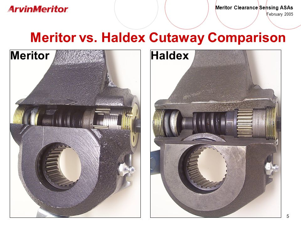 Meritor Clearance Sensing Automatic Slack Adjusters - ppt video