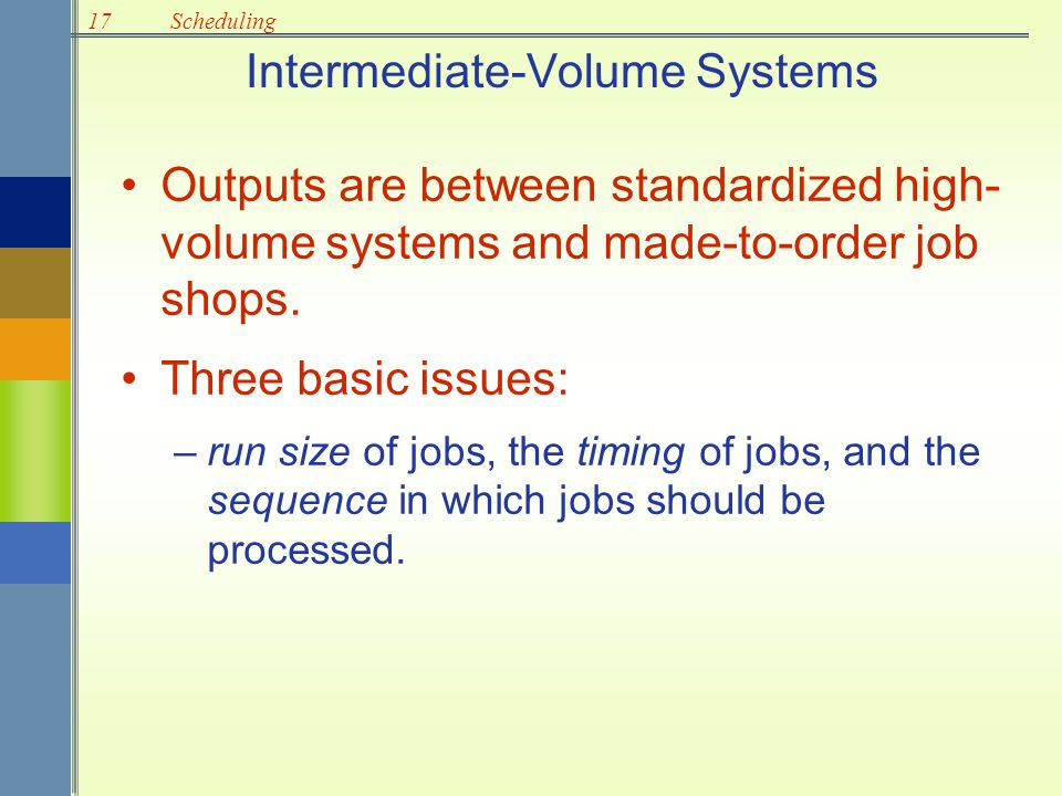 Intermediate-Volume Systems