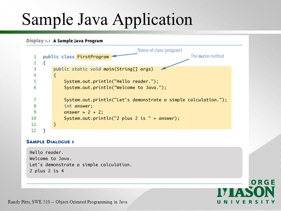 Sample Java Application