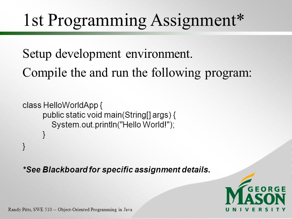 1st Programming Assignment*