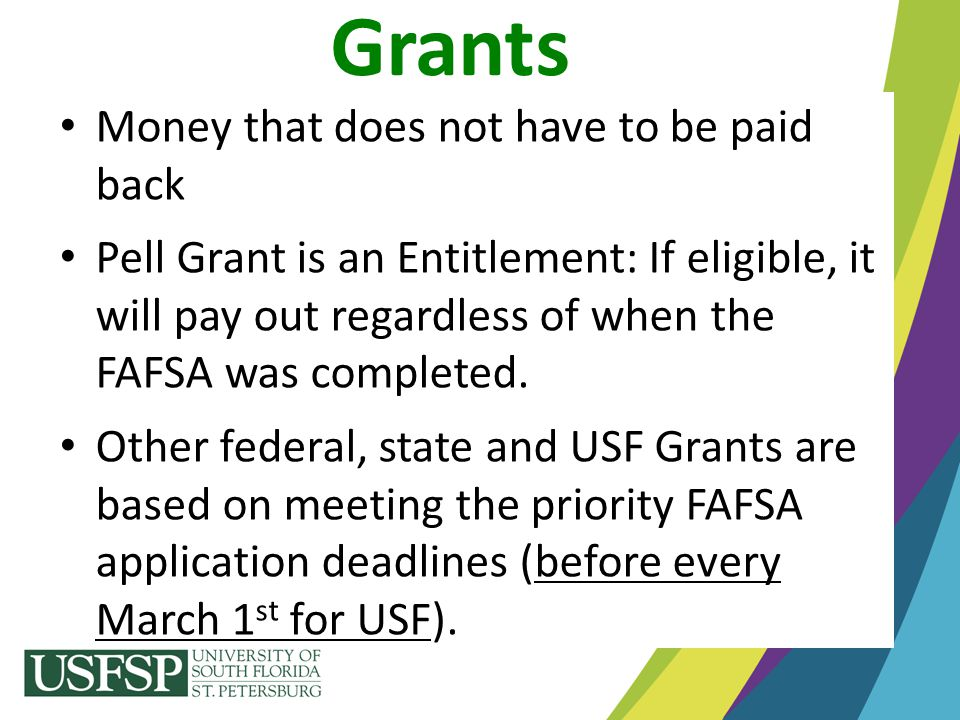 Welcome To Usfsp Now Tell Me About The Money Ppt Download