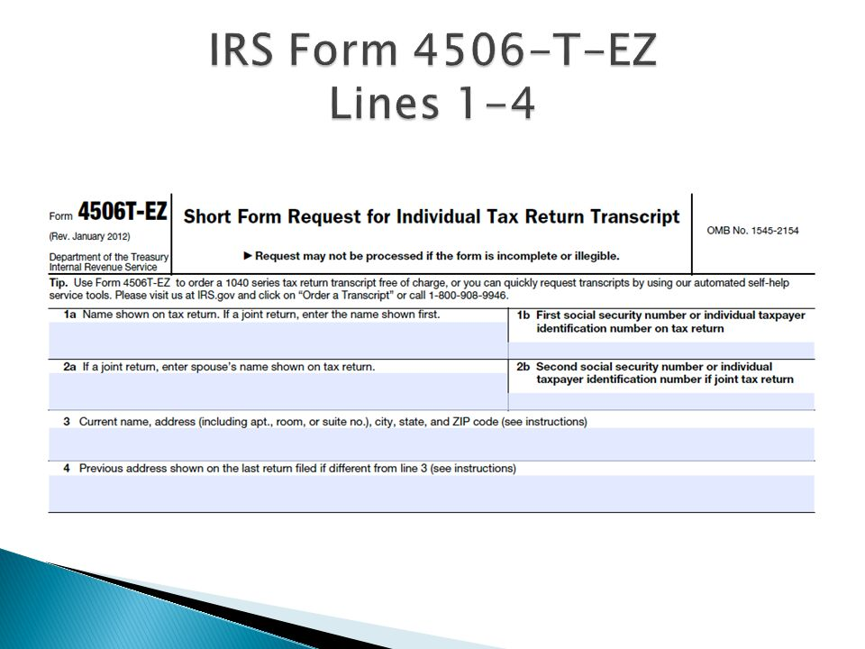 Verification Irs Data Retrieval Tax Transcripts For Ppt Video