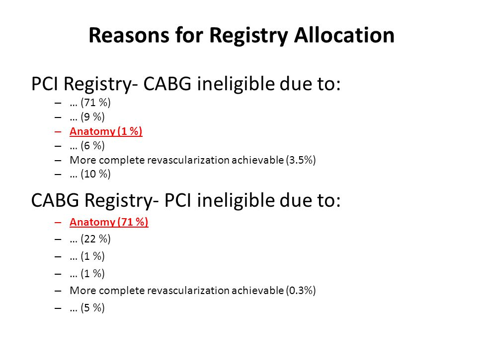 Reasons for Registry Allocation