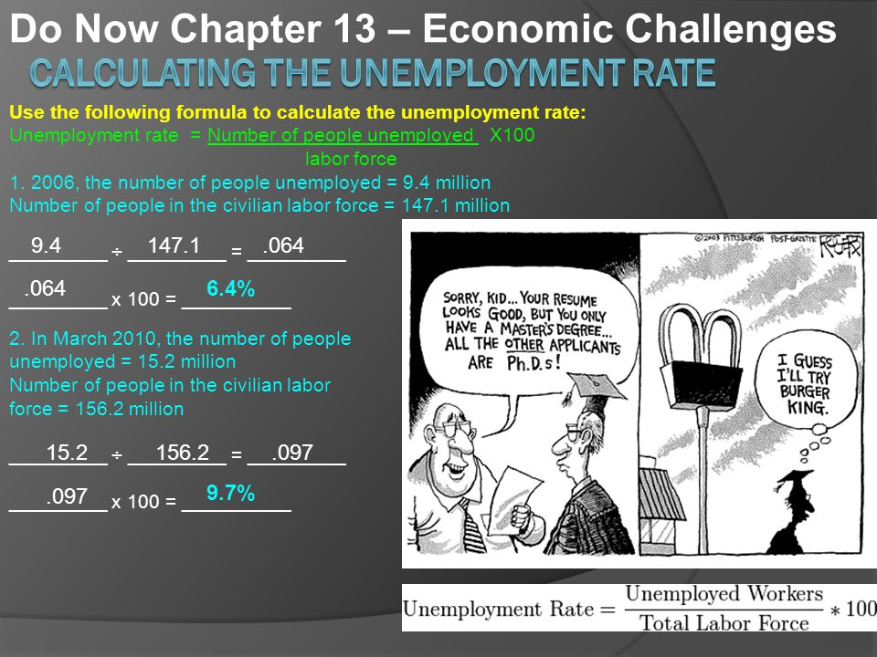 Calculating The Unemployment Rate Ppt Download. Calculating The Unemployment Rate. Worksheet. 13 1 Unemployment Worksheet At Clickcart.co