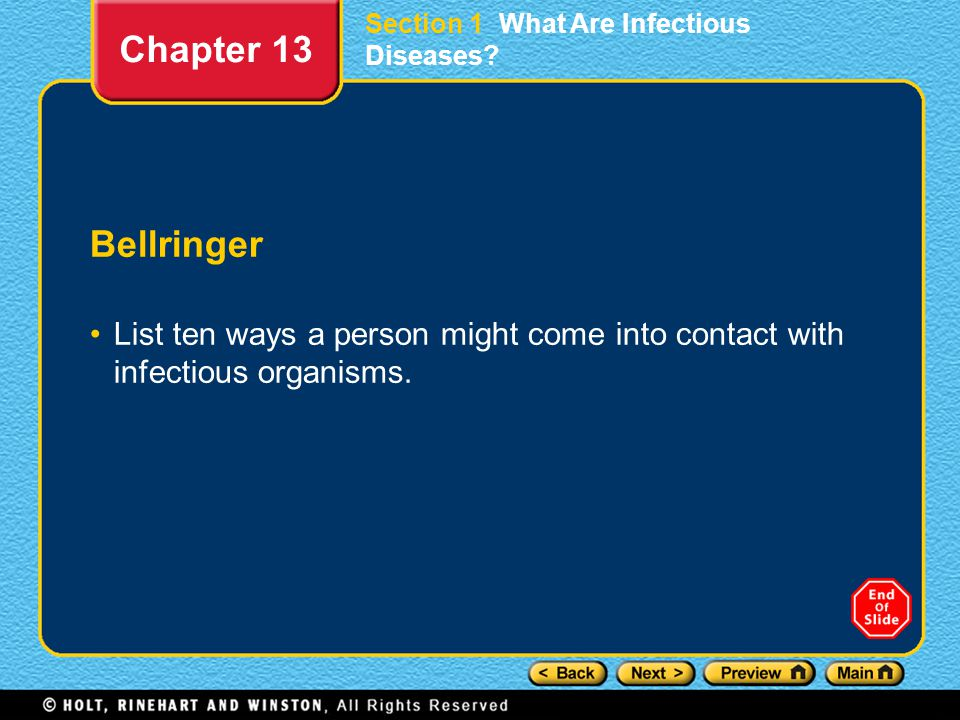 Section 1 What Are Infectious Diseases
