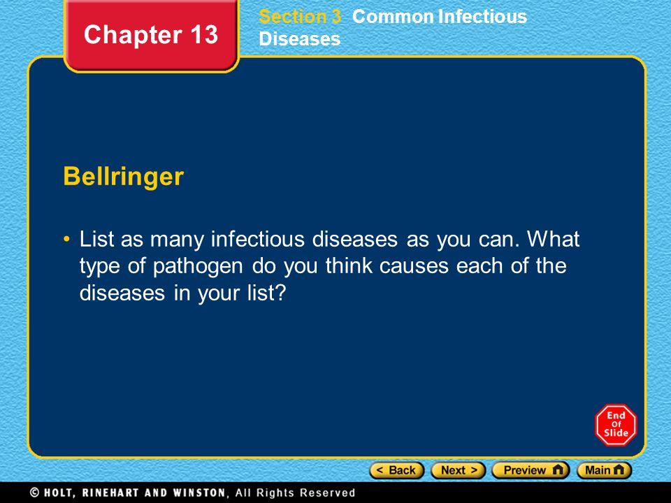 Section 3 Common Infectious Diseases
