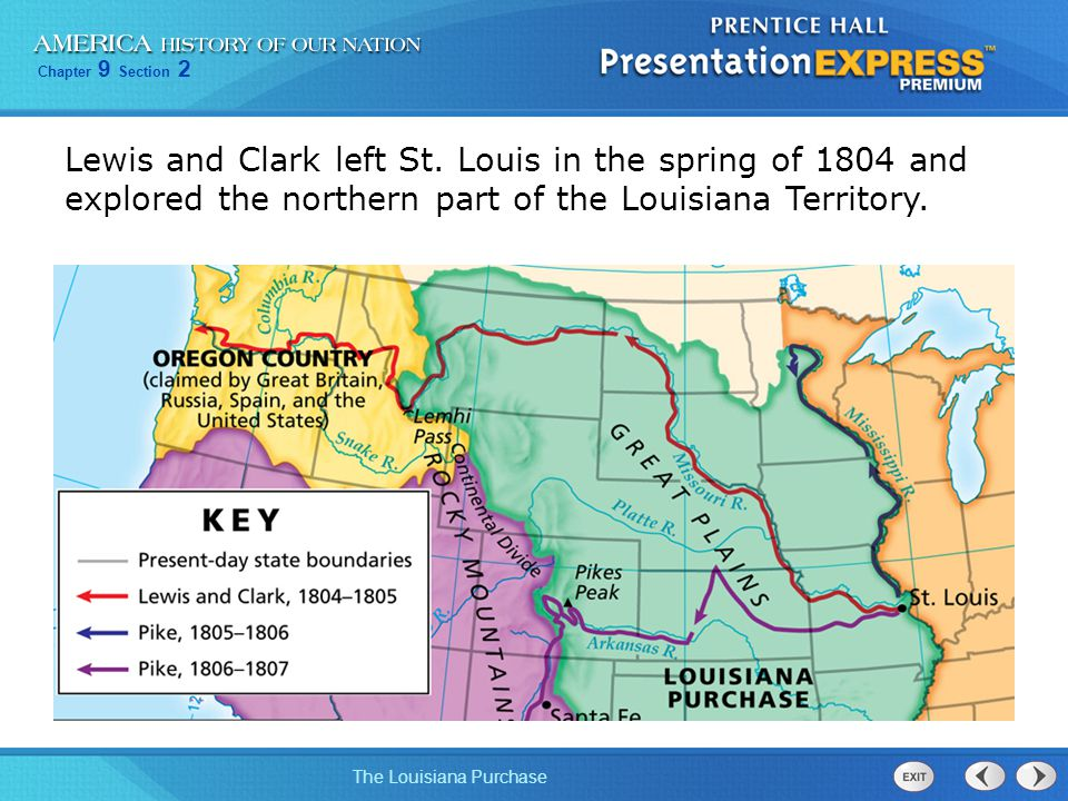 Lewis and Clark left St.