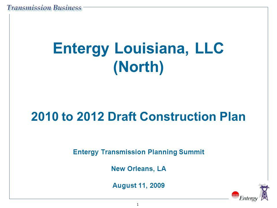 Entergy Louisiana, LLC (North) 2010 to 2012 Draft