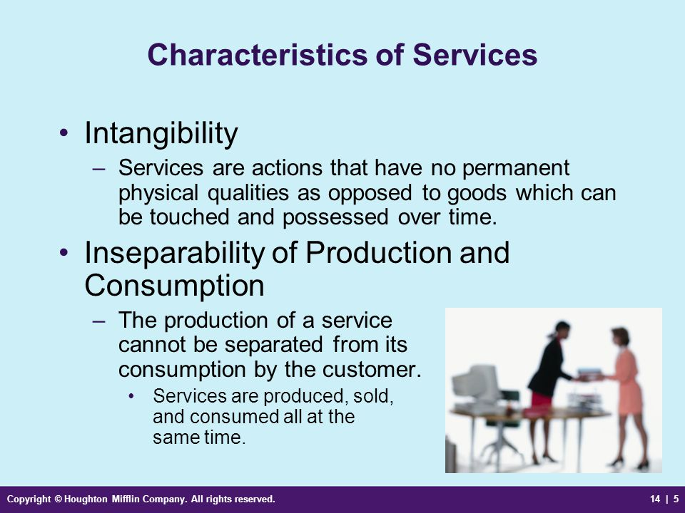 inseparability of production and consumption