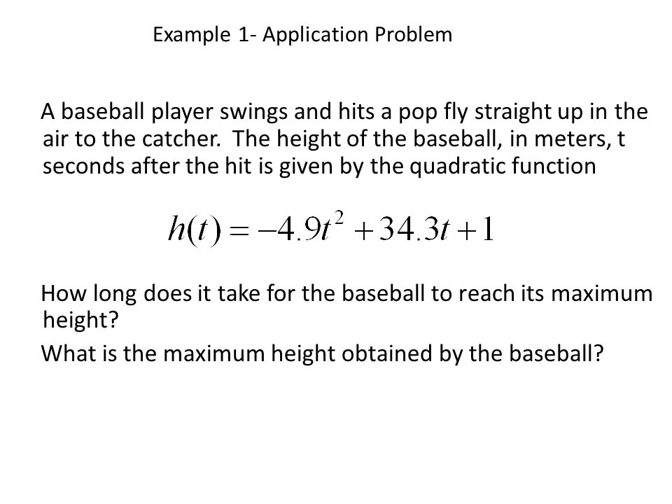 Example 1- Application Problem