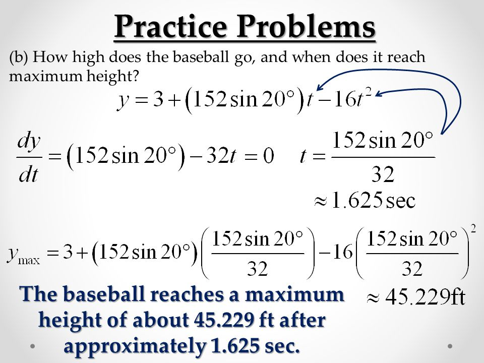 projectile motion sample problems with answers pdf