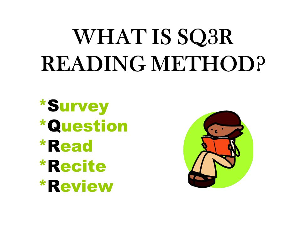 WHAT IS SQ3R READING METHOD