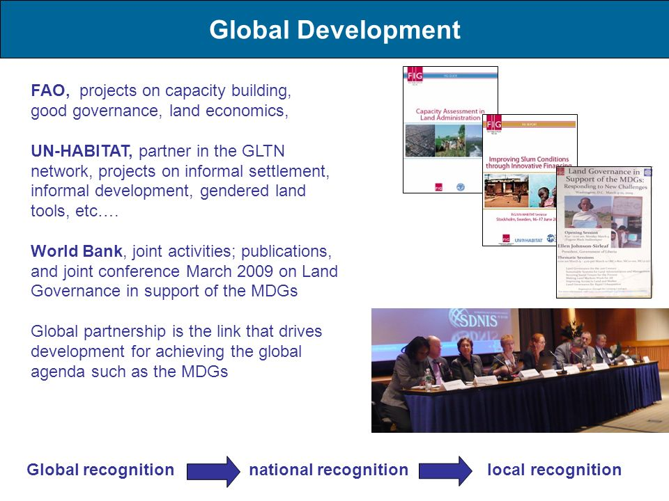 Global Development FAO, projects on capacity building,