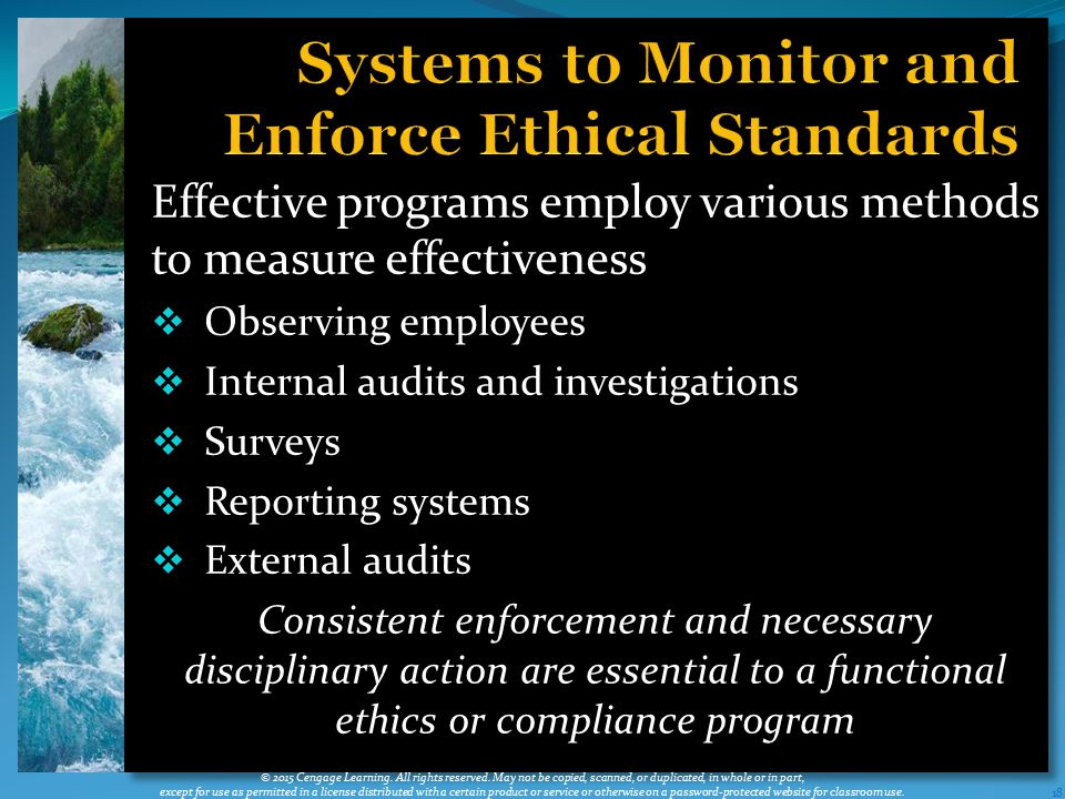 Systems to Monitor and Enforce Ethical Standards