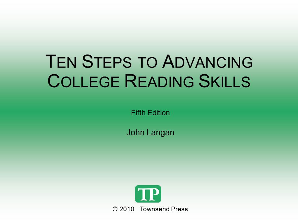 Ten steps to advanced college reading skills 5th edition answers.
