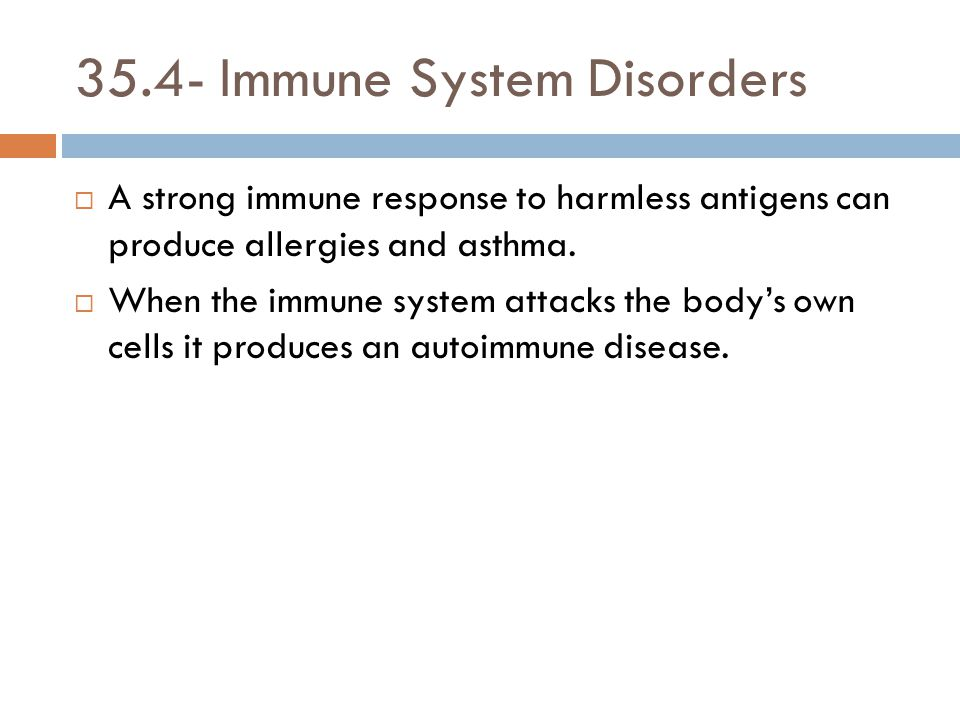 35.4- Immune System Disorders