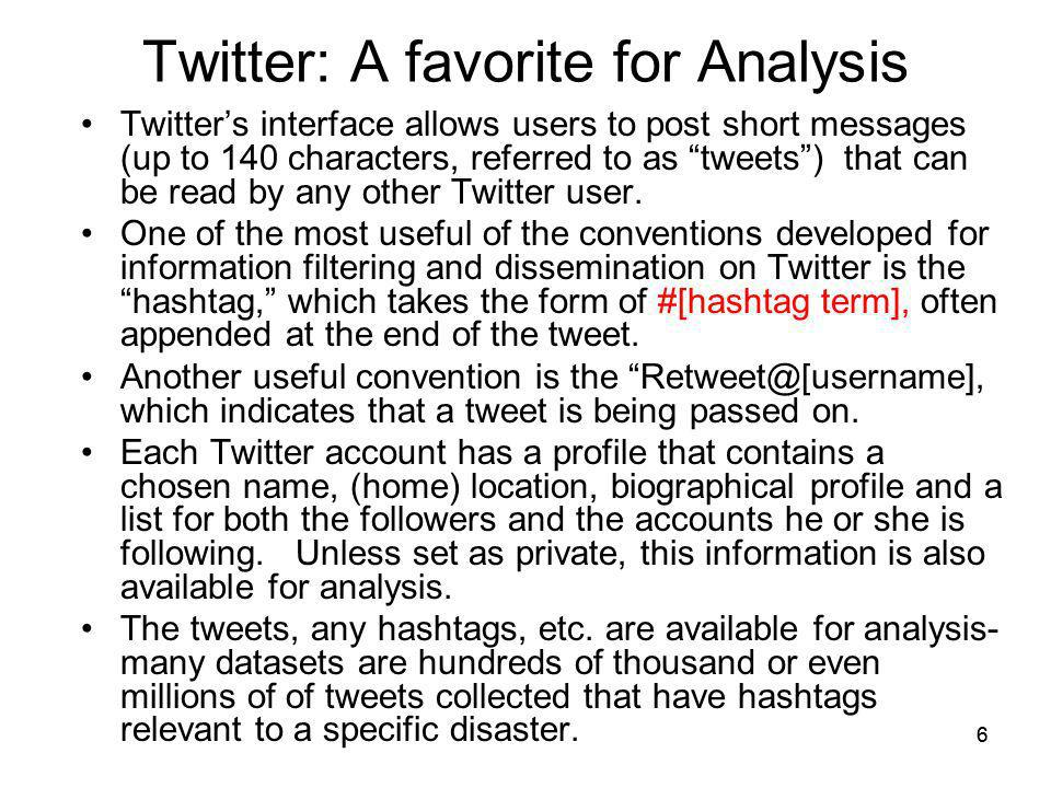 Twitter: A favorite for Analysis