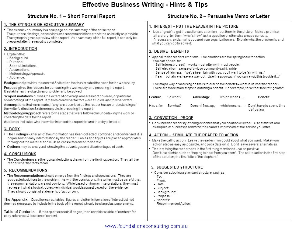 effective business writing hints tips