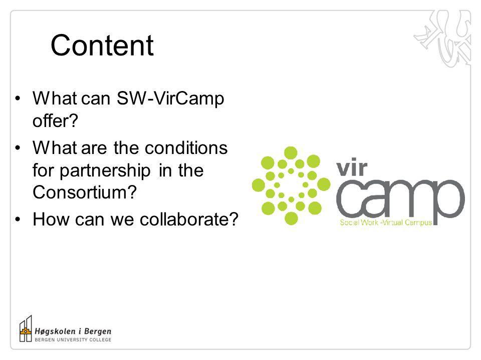 Content What can SW-VirCamp offer
