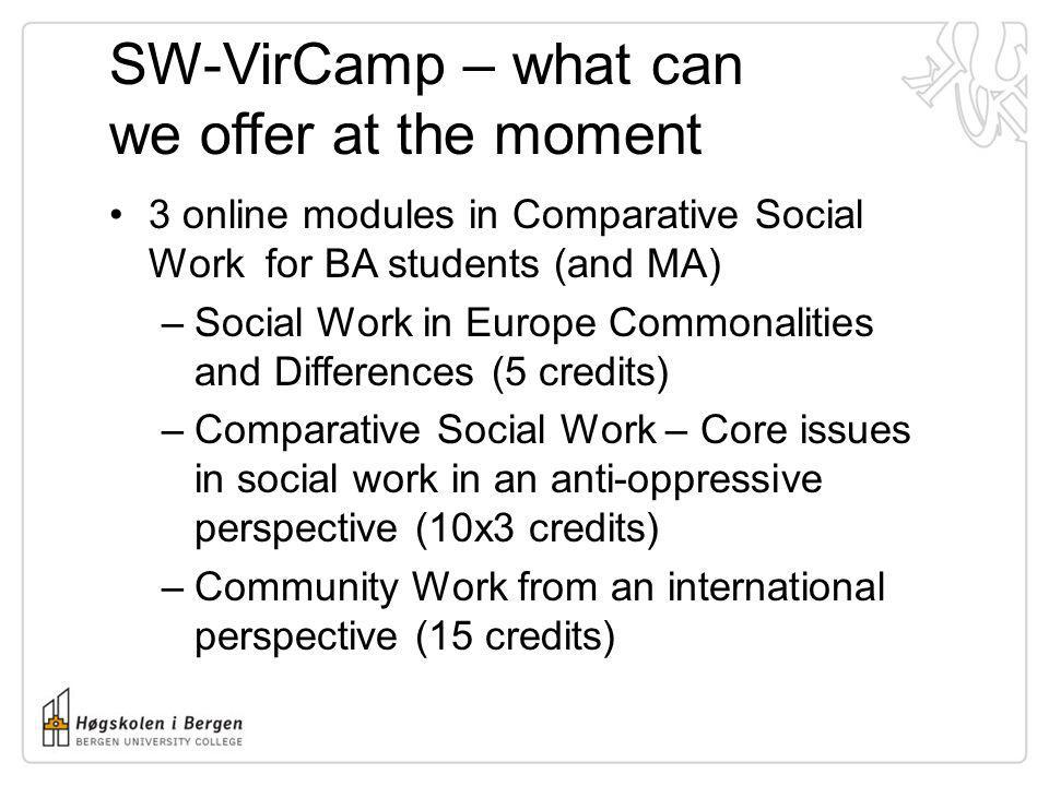 SW-VirCamp – what can we offer at the moment
