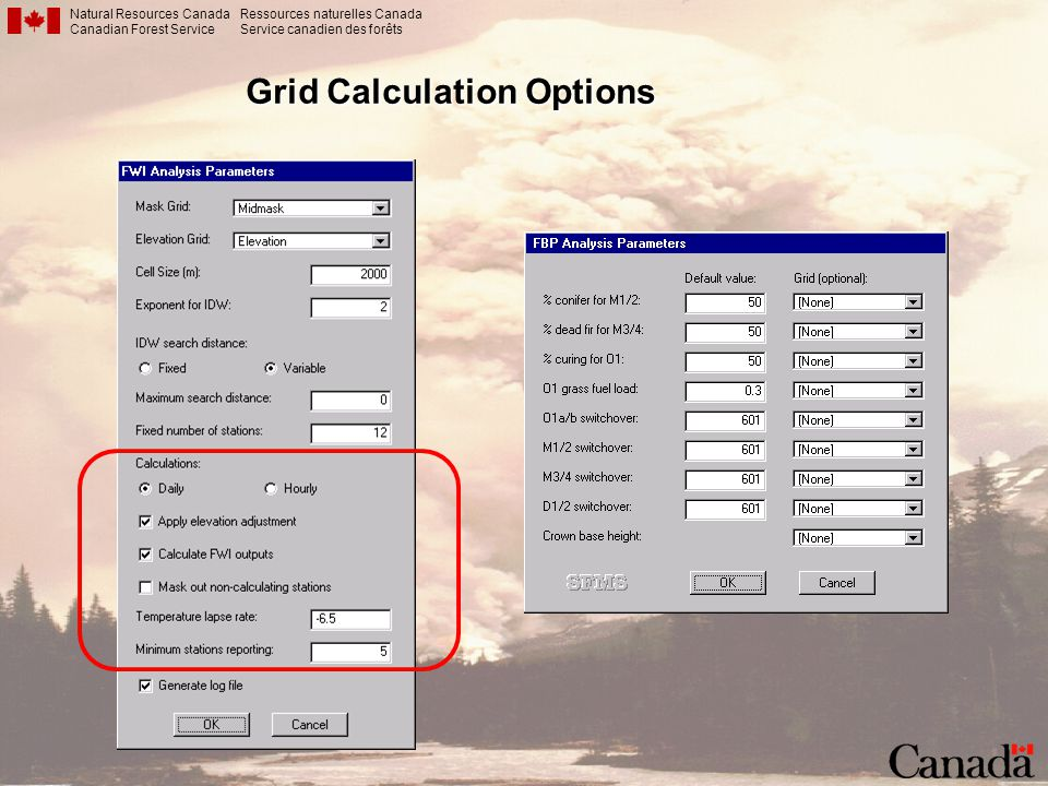 Grid Calculation Options
