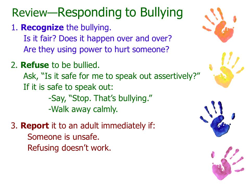 Review—Responding to Bullying