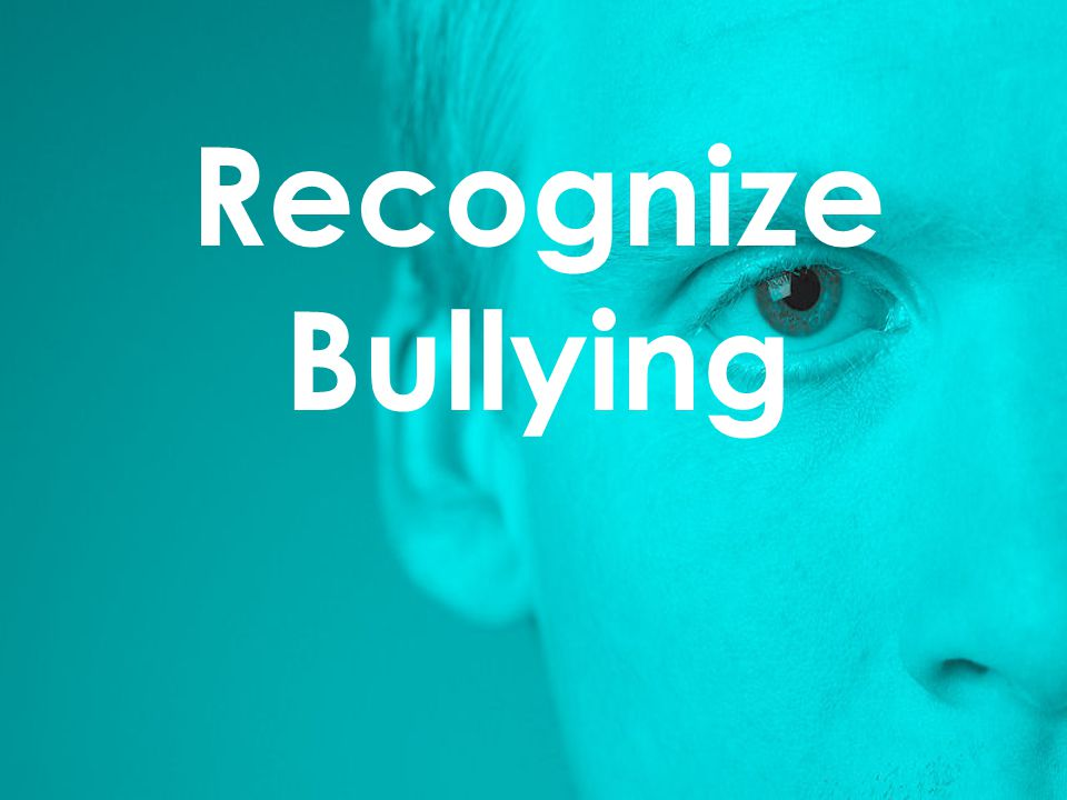 Recognize Bullying