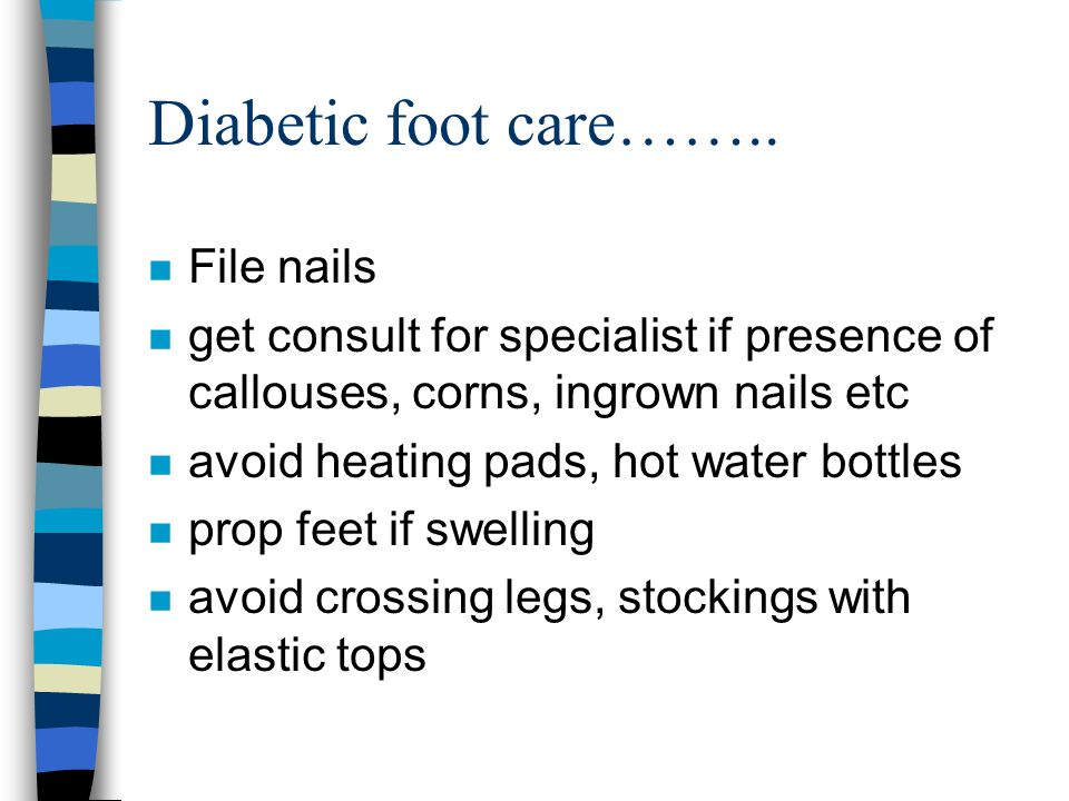 Diabetic foot care…….. File nails