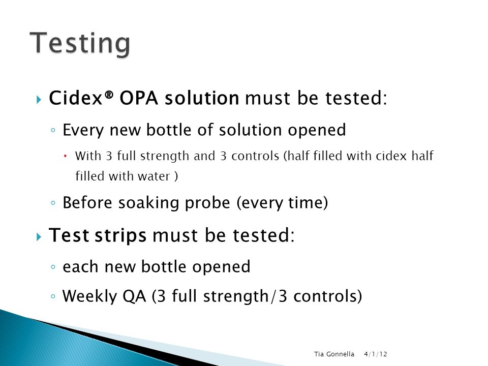 Standardizing Cidex Opa Use For Direct Users Ppt Video Online