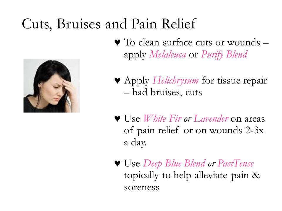 Cuts, Bruises and Pain Relief