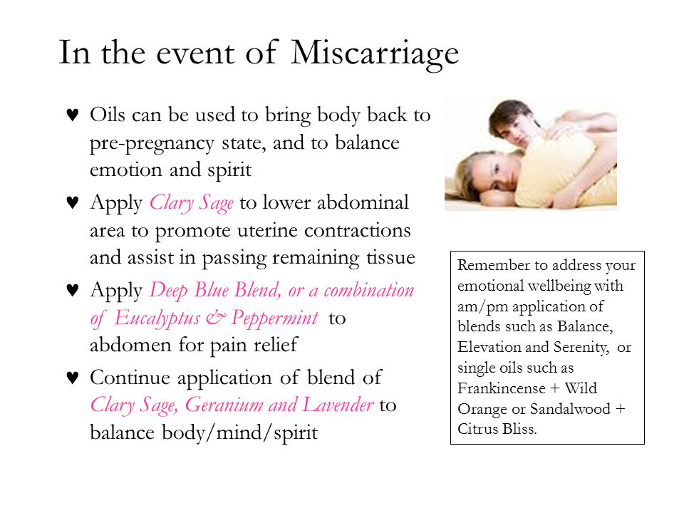 In the event of Miscarriage