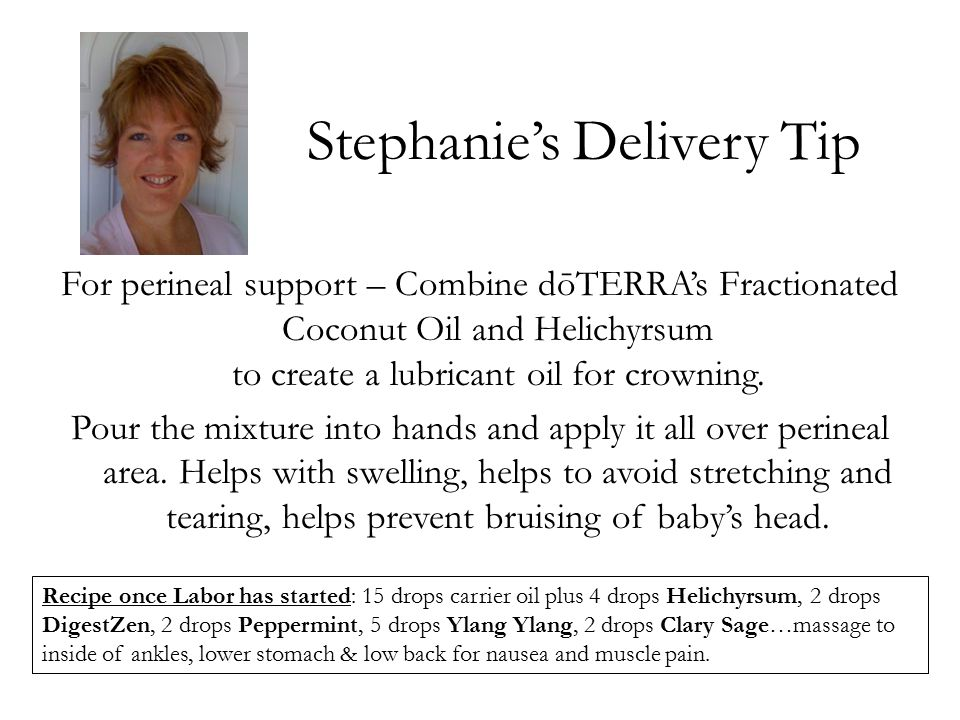 Stephanie's Delivery Tip