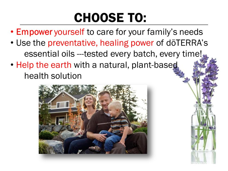 CHOOSE TO: Empower yourself to care for your family's needs