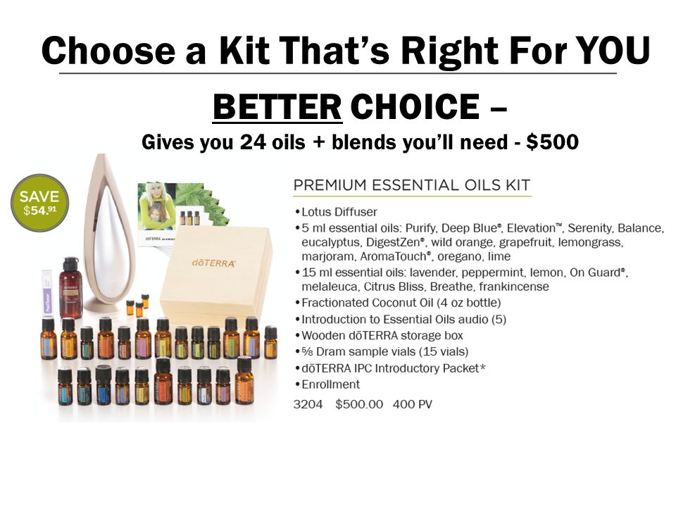 Choose a Kit That's Right For YOU