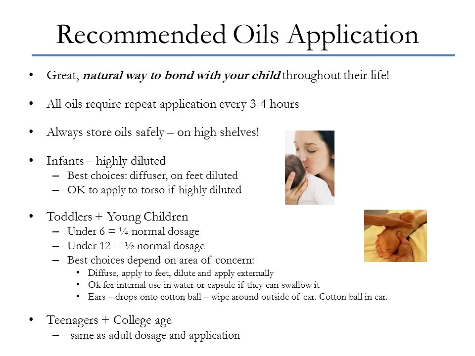 Recommended Oils Application