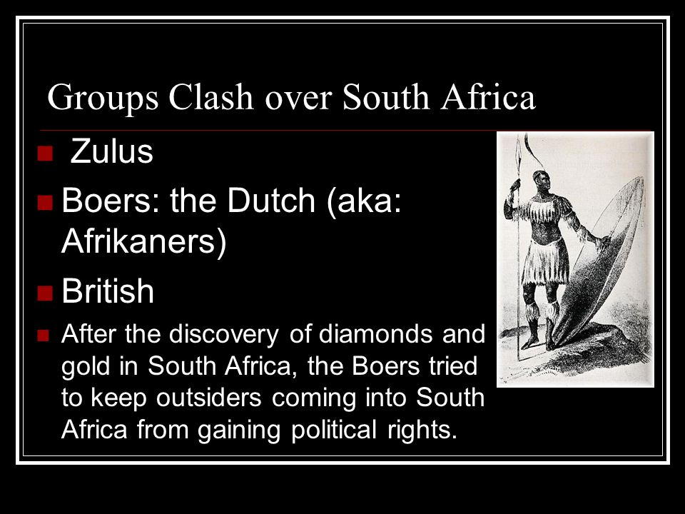 Groups Clash over South Africa