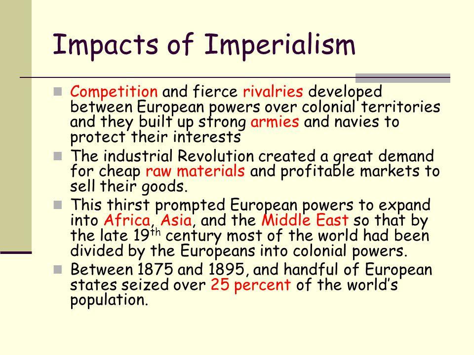 Impacts of Imperialism