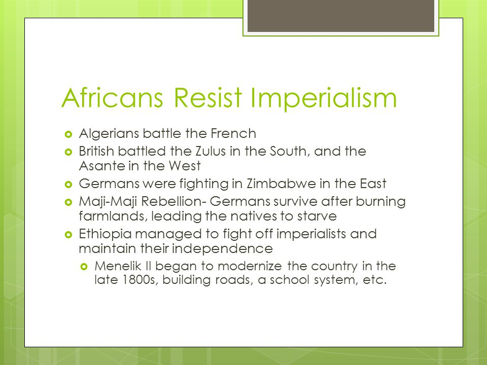 Africans Resist Imperialism
