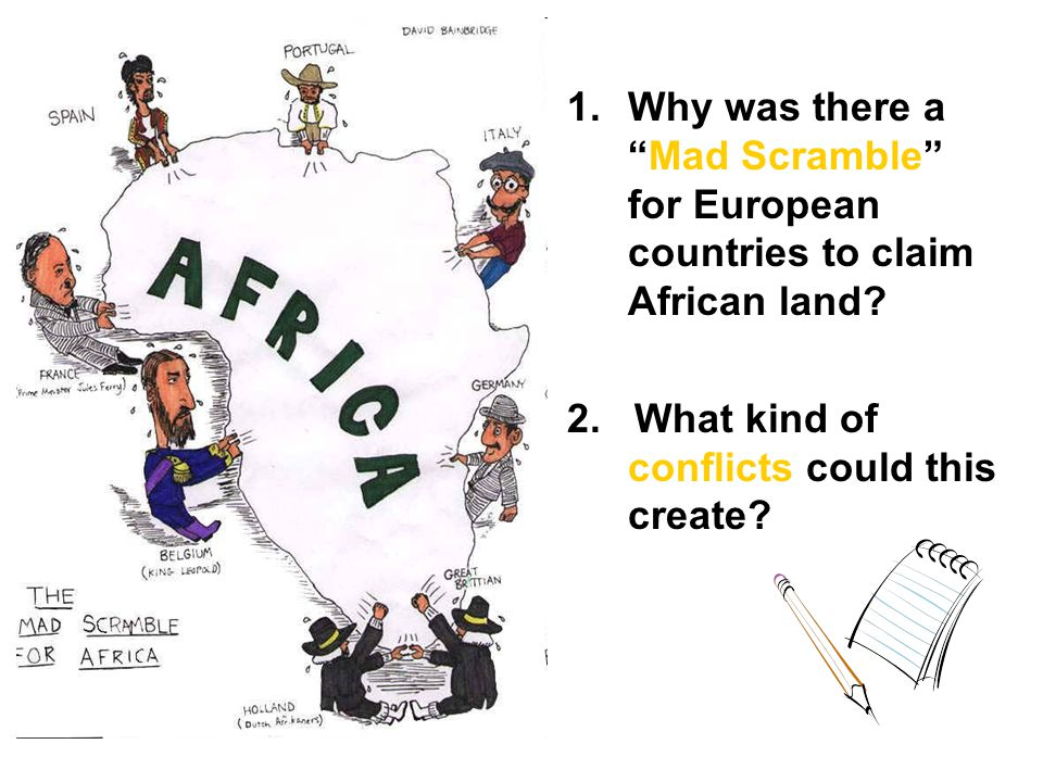 Why was there a Mad Scramble for European countries to claim African land