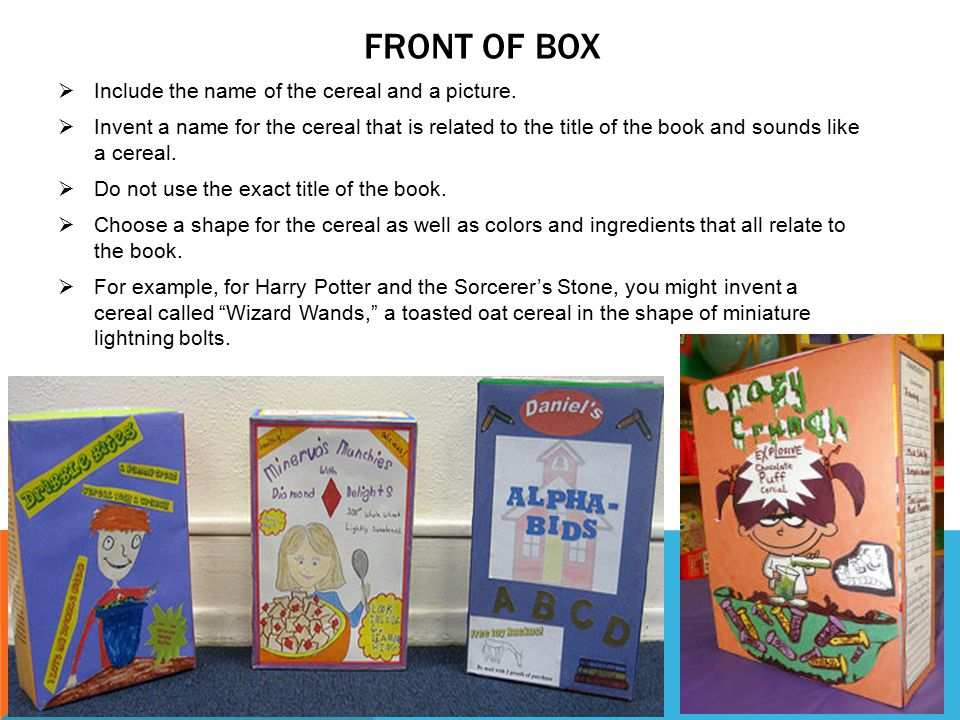 Captivating Front Of Box Include The Name Of The Cereal And A Picture.